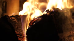 Flames and Fiery Coals (2 of 8) Stock Footage