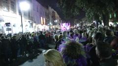 Krewe De Vieux Parade shot 2015 Stock Footage
