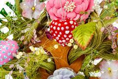 Decorative toy tree background Stock Photos