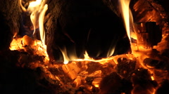 Flames and Fiery Coals (4 of 8) Stock Footage