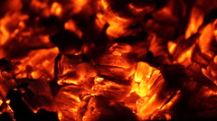 Flames and Fiery Coals (6 of 8) Stock Footage