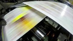 4k Printing press printing newspapers, uhd stock video Stock Footage