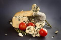 Roquefort cheese composition - stock photo