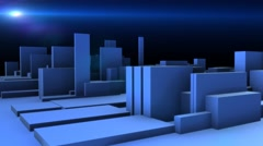 Moving blocks blue abstract motion background Stock Footage