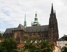 St. Vitus cthedral in Prague Stock Photos