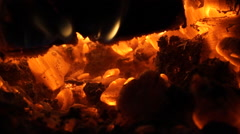 Flames and Fiery Coals (5 of 8) Stock Footage