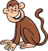 Stock Illustration of funny monkey cartoon illustration