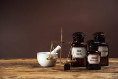 The ancient natural medicine Stock Photos