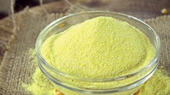 Portion of Cornmeal (seamless loopable) Stock Footage