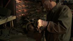 Workshop Grinder 2 Stock Footage