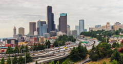 Downtown Seattle Timelapse Stock Footage