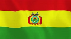 Loopable: Flag of Bolivia Stock Footage