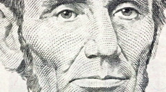 Abe Lincoln Macro Zoom Stock Footage