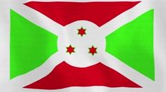 Loopable: Flag of Burundi Stock Footage