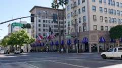 The Hotel Wilshire in Beverly Hills Establishing Shot Stock Footage