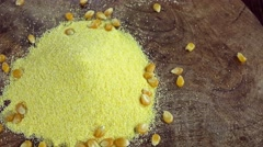 Rotating Cornmeal (loopable) Stock Footage