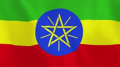Loopable: Flag of Ethiopia Stock Footage