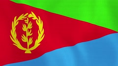 Loopable: Flag of Eritrea Stock Footage