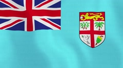 Loopable: Flag of Fiji - stock footage