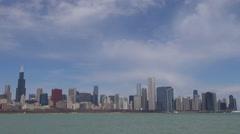 Timelapse cloud pass Chicago skyline american destination landmark iconic view  Stock Footage