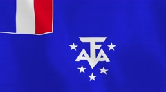 Loopable: Flag of French Southern and Antarctic Lands Stock Footage