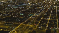 Timelapse traffic street crowded freeway Chicago suburb commuter commute night   Stock Footage