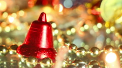 Bell holiday decoration close-up seamless loop Stock Footage
