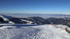Snow mountains ski Jasna Slovakia Tatras Stock Footage
