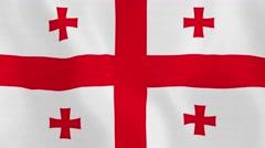 Loopable: Flag of Georgia Stock Footage