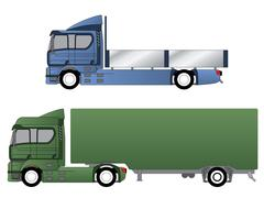 Double cab trucks with various chassis Stock Illustration