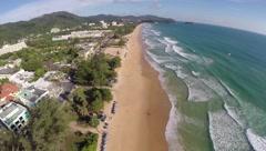 Aerial view of Karon beach in Phuket - stock footage