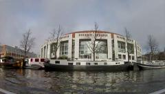 Amsterdam - 028 - Canal City  BoatTour Time-lapse B1 Stock Footage
