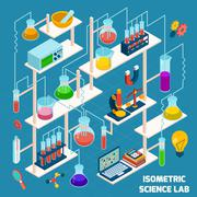 Isometric Science Lab Stock Illustration