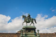 DRESDEN - equestrian statue of King John Stock Photos