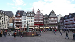 Old town in Frankfurt am Maine Stock Footage