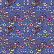 Stock Illustration of Colorful pattern with islamic vignettes