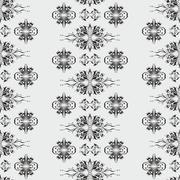 Wallpaper pattern damask style Stock Illustration