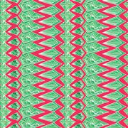 Contrast Aztec geometric pattern - stock illustration