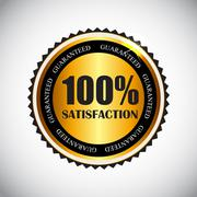 Stock Illustration of Golden Label 100 % Satisfaction Vector Illustration