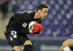 Sergio Rico of Sevilla FC - stock photo