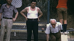 Italy 1974: seniors playing bocce Stock Footage