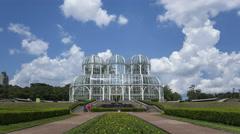 4K Time lapse zoom in Curitiba botanical garden Jardim Botanico Stock Footage