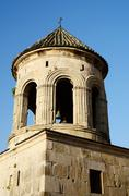 Bell tower in Gelati Monastery near Kutaisi ,Imereti, western Georgia, unesco - stock photo