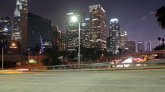 Time lapse of Los Angeles downtown city traffic Arkistovideo