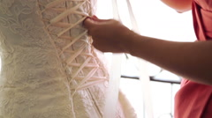Preparation of the bride, decorations, holiday. - stock footage