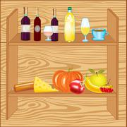 Stock Illustration of Shelf with product
