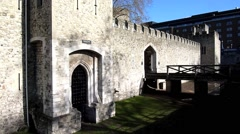 The Tower of London, Royal Palace 23 Stock Footage