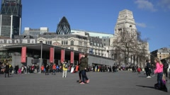 A view of the Tower of London Plaza in London United Kingdom Stock Footage