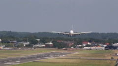 Wide body jet landing Stock Footage