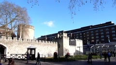 The Tower of London, Royal Palace  24 Stock Footage